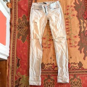 Earnest Sewn acid wash ripped jeans